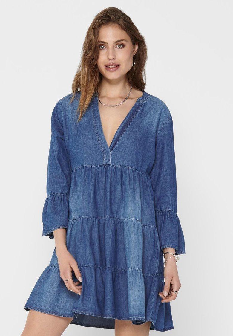 JDY - Denim dress - medium blue denim
