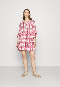 Colourful Rebel - INDY BRODERIE ANGLAISE BOHO DRESS - Day dress - white - 1