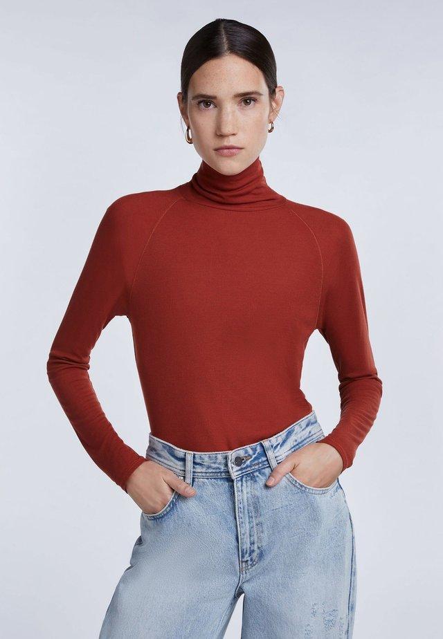 T-shirt à manches longues - maroon