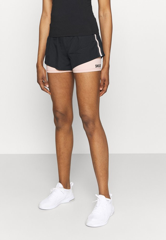 2 IN 1 SHORTS  - Pantaloncini sportivi - black/pink