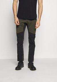 Haglöfs - RUGGED FLEX PANT  - Outdoor trousers - deep woods/true black - 0