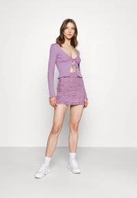 BDG Urban Outfitters - PATCHWORK PELMET SKIRT - Minirok - lilac - 1