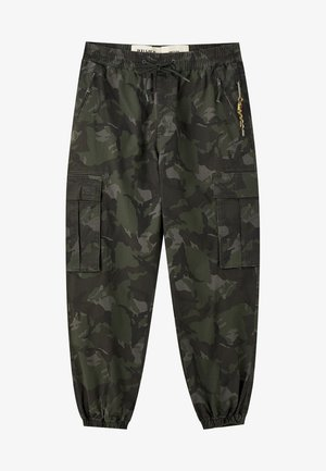 Pantaloni cargo - evergreen