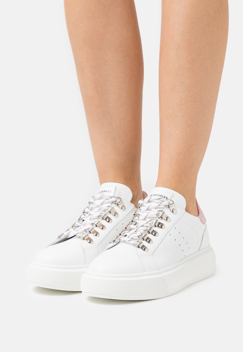 The Kooples - BASKET LACETS MOUCHETTES - Trainers - white/pink