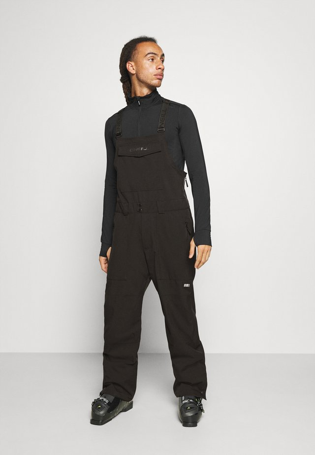 SHRED BIB PANTS - Pantalon de ski - black out