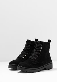 Topshop Wide Fit - WIDE FIT BUMBLE LACE UP BOOT - Lace-up ankle boots - black - 4