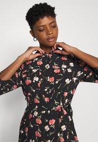 ONLY - ONLNOVA LUX 3/4 LONG DRESS - Košilové šaty - black - 3