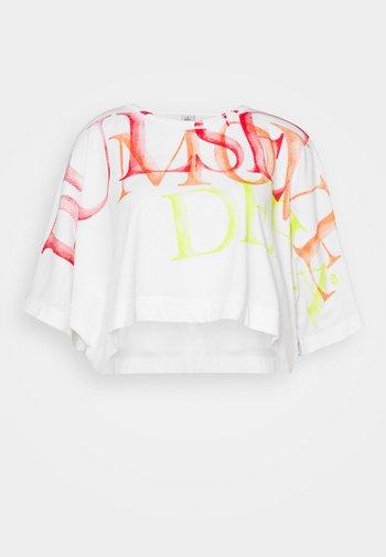 WIDE CROP - Print T-shirt - white