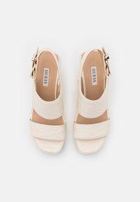 Guess - NOLITA - Platform sandals - cream - 5