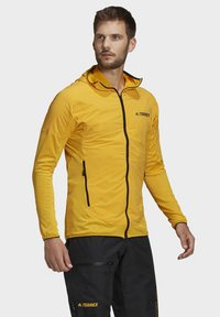 adidas Performance - TERREX SKYCLIMB FLEECE JACKET - Fleece jacket - yellow - 2