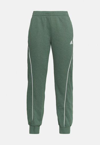 Tracksuit bottoms - green/white
