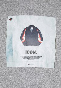 Champion Rochester - GRAPHIC SHOP CREWNECK - Print T-shirt - mottled grey - 2