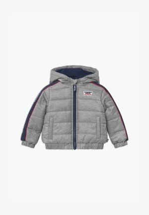 COLOR BLOCK PUFFER - Winter jacket - oyster mushroom