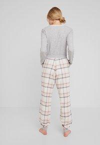 Hunkemöller - PANT TWILL CHECK CUFF - Nattøj bukser - cloud pink - 2
