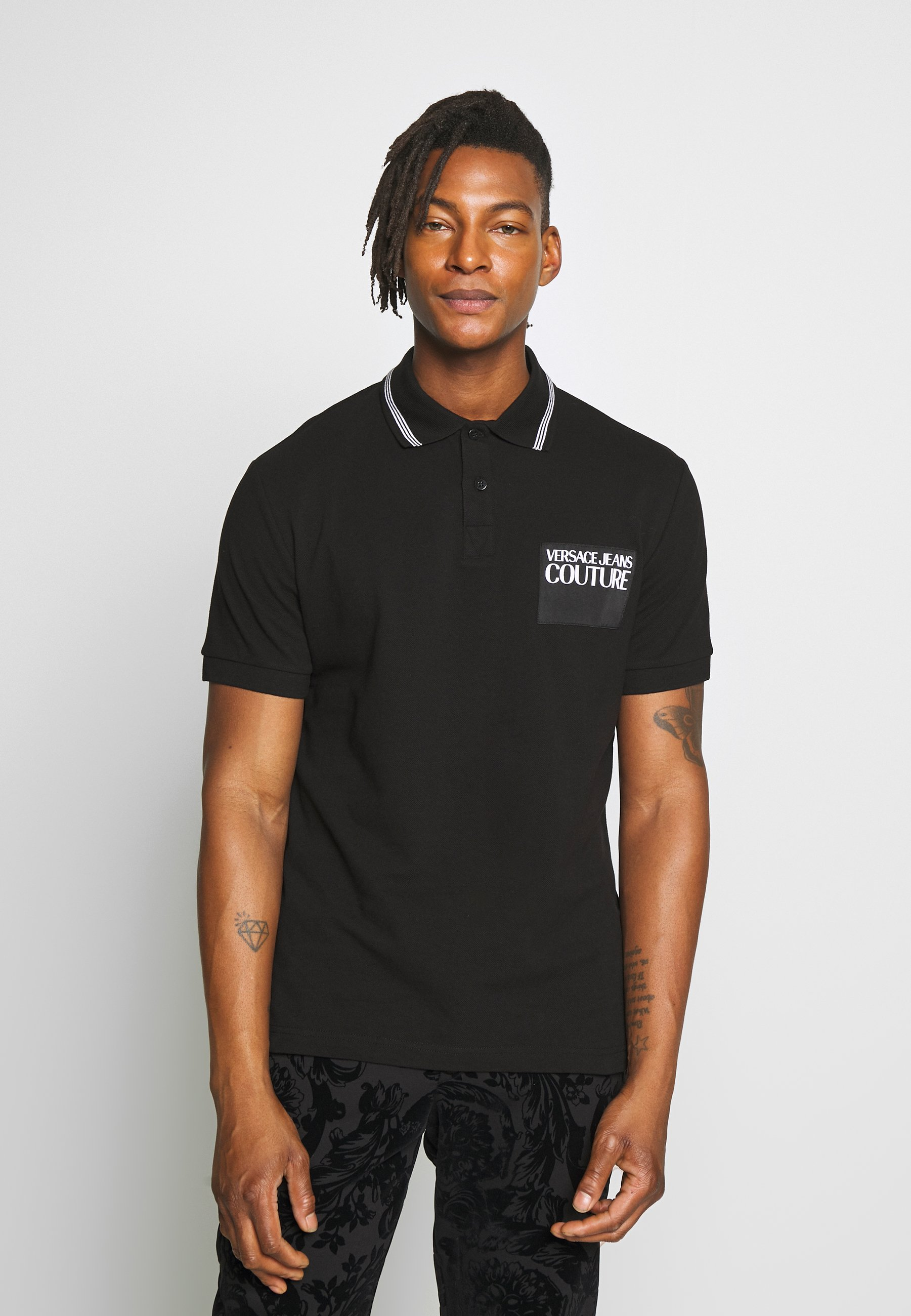 The Cheapest Popular And Cheap Men's Clothing Versace Jeans Couture PATCH Polo shirt black jC9vztjYu fELNiqSYe