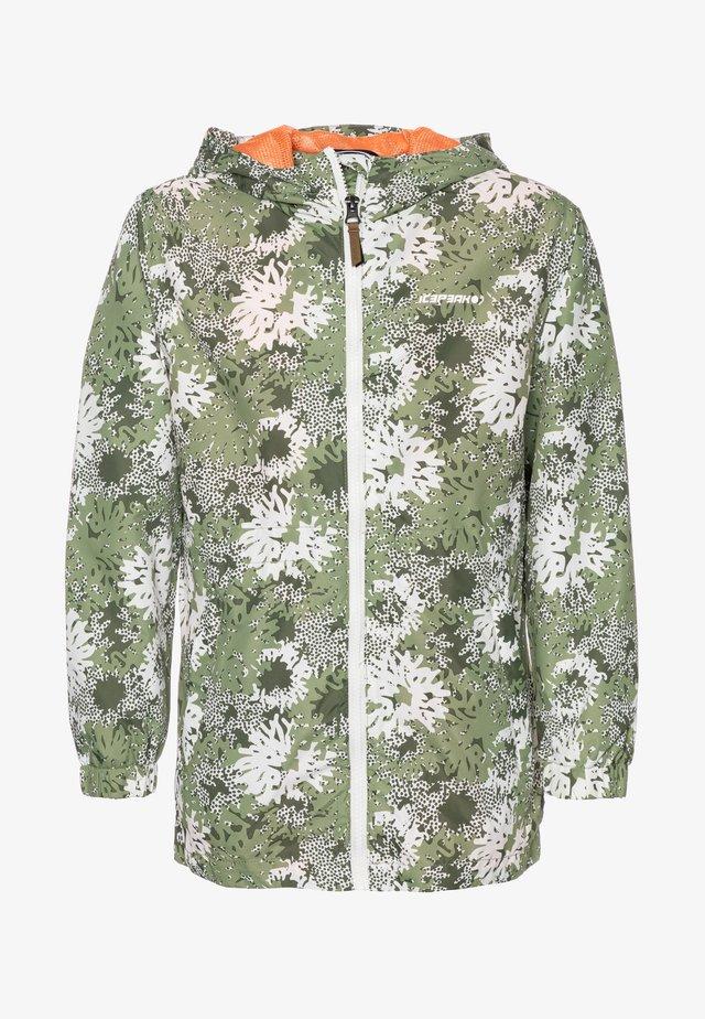 LORAINE - Vodotěsná bunda - antique green