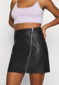 Vila - VIBALINI SHORT SKIRT - Mini skirt - black - 4