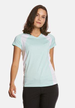 ELLA - T-shirt imprimé - mint/white