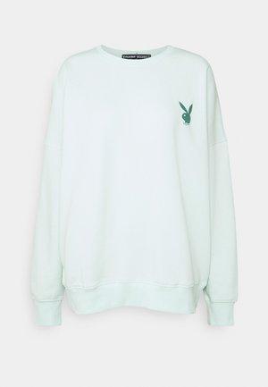 PLAYBOY OVERSIZED CREW NECK - Sweatshirt - green