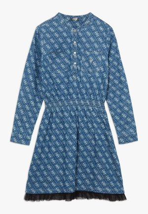 JUNIOR ADJUSTABLE DRESS - Košilové šaty - indigo wash
