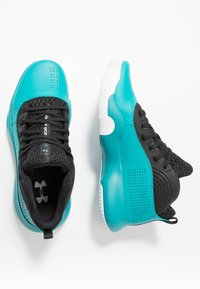 Under Armour - LOCKDOWN 4 - Basketball shoes - teal rush/black - 1