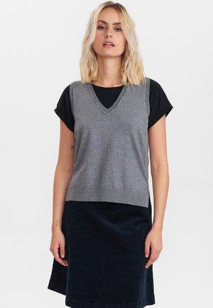 NUBIA - Waistcoat - medium grey mel