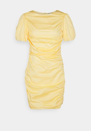 THE CUTEST RUCHED DRESS - Cocktailkjole - light yellow