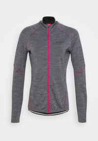 LÖFFLER - BIKE PACE - Training jacket - grey melange/magenta - 3