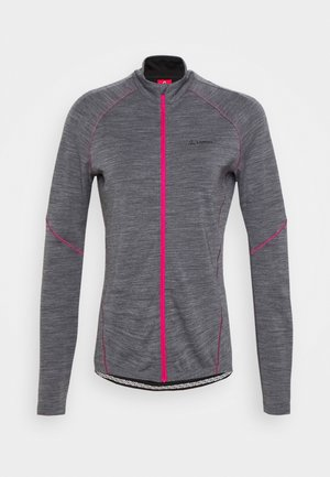 BIKE PACE - Trainingsjacke - grey melange/magenta