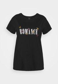 New Look Curves - WOW ROMANCE BUTTERFLY - T-shirt imprimé - black - 0