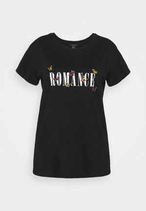 WOW ROMANCE BUTTERFLY - T-shirts med print - black