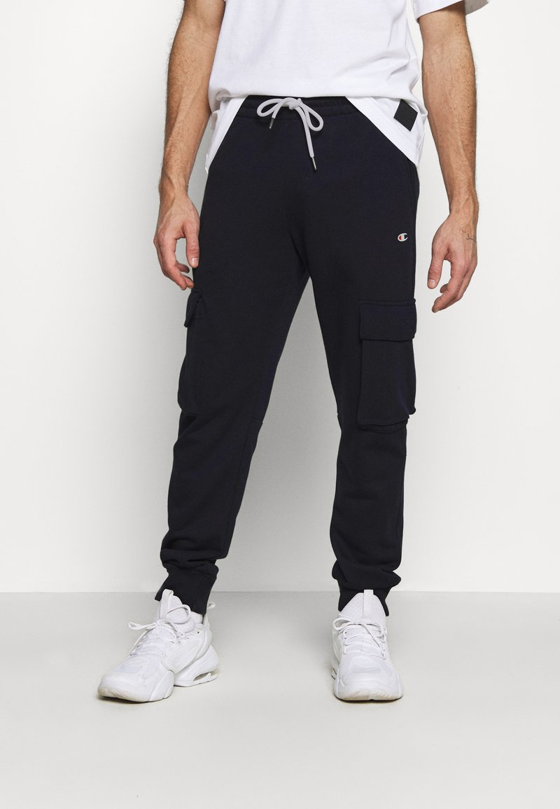 Champion - CUFF PANTS - Tracksuit bottoms - navy