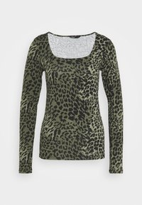 ONLY Tall - ONLBELLA LIVE LOVE SQUARE  - Long sleeved top - kalamata/green leo - 0