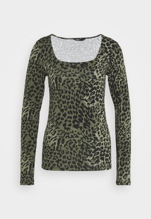 ONLBELLA LIVE LOVE SQUARE  - Long sleeved top - kalamata/green leo