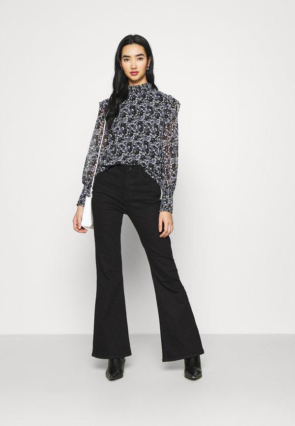 Vero Moda VMFILIA SMOCK - Bluzka z długim rękawem - black/czarny EDGW