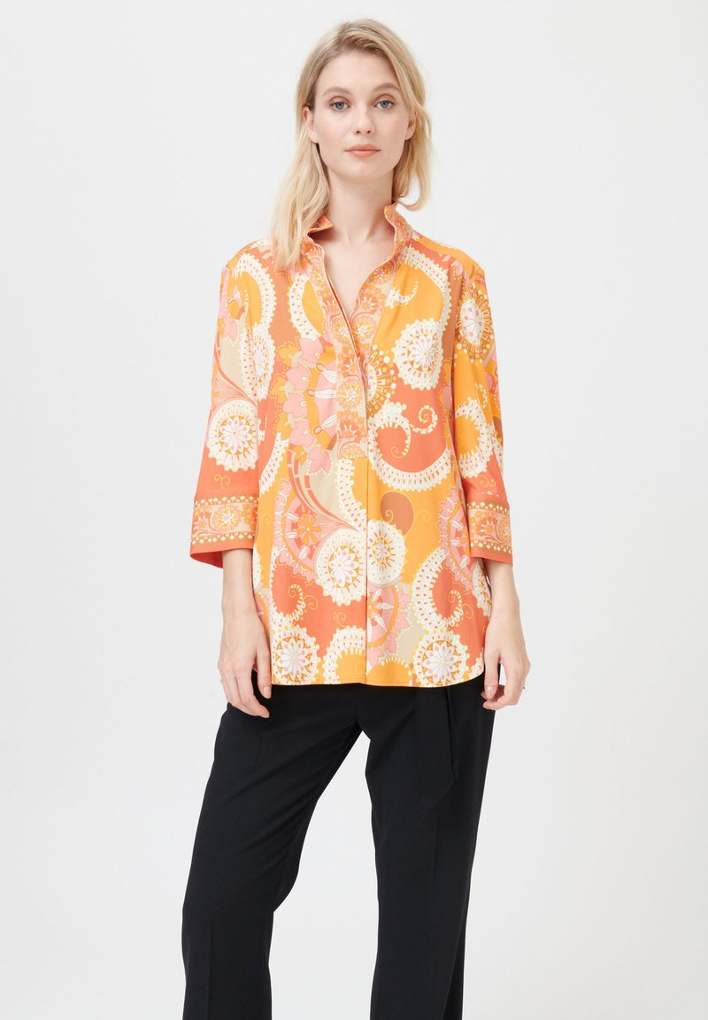 Dea Kudibal - KAMI (V) - Button-down blouse - khanga orange