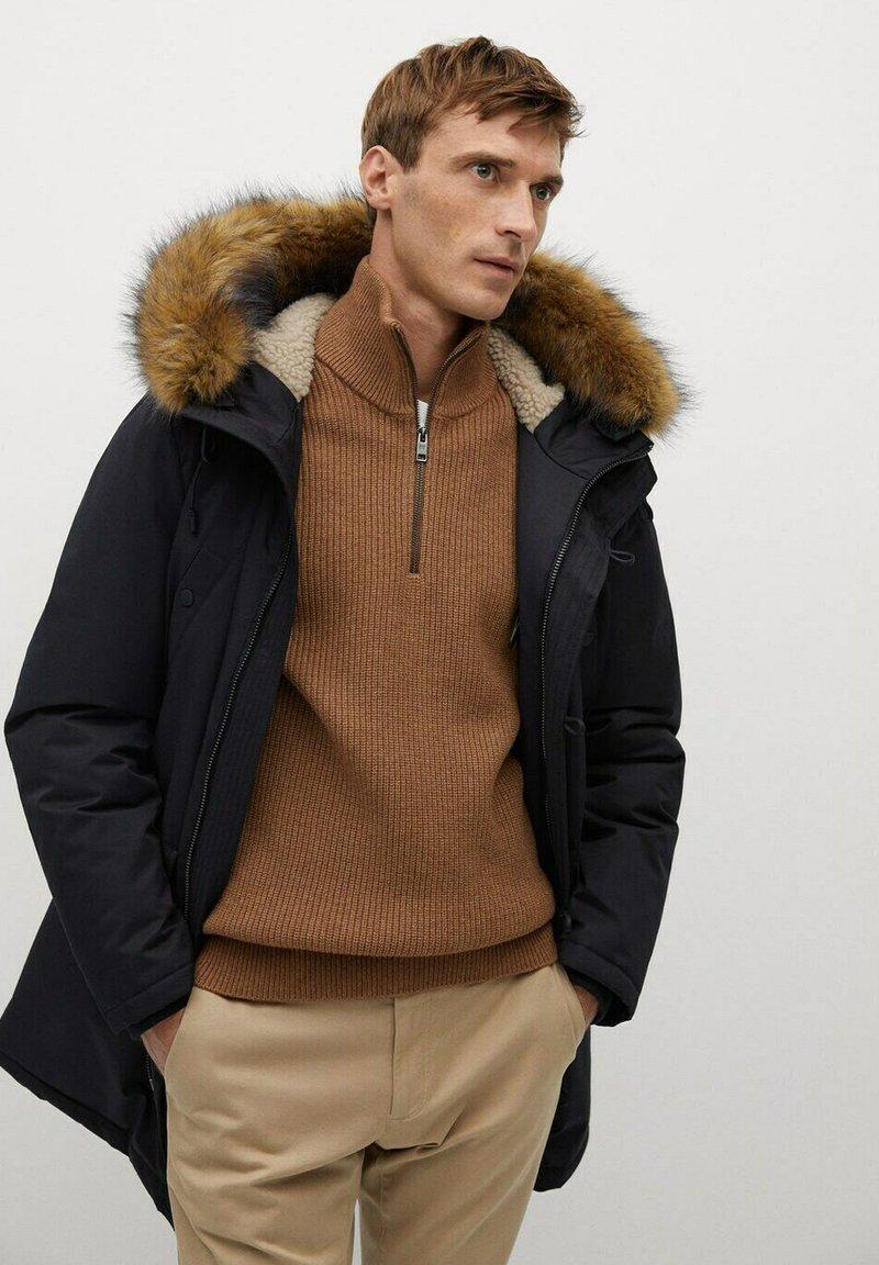 Mango - Winter coat - zwart
