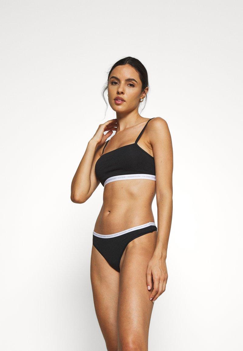 Calvin Klein Underwear - CK ONE UNLINED BRALETTE 2 PACK - Bustino - black