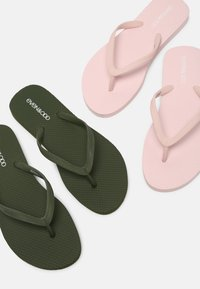 Even&Odd - 2 PACK - Pool shoes - khaki/pink - 7