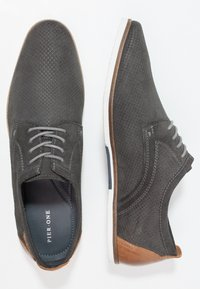 Pier One - Casual lace-ups - dark gray - 1