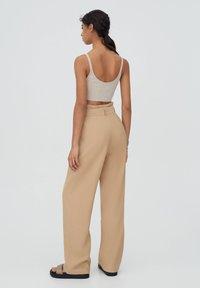 PULL&BEAR - Pantalon classique - beige - 2