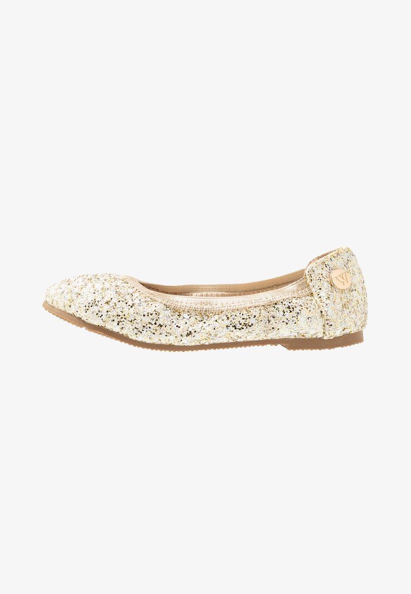 Walnut - CATIE FRECKLE BALLET - Klassischer  Ballerina - gold