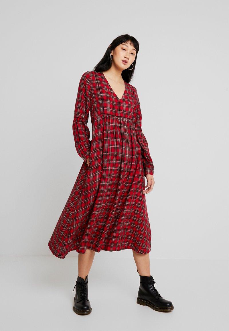 Leon & Harper - RODRIGUE TARTAN - Day dress - red