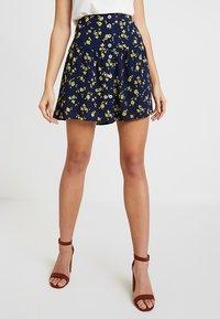 Leon & Harper - JIMBO CHERRY - A-line skirt - navy - 0
