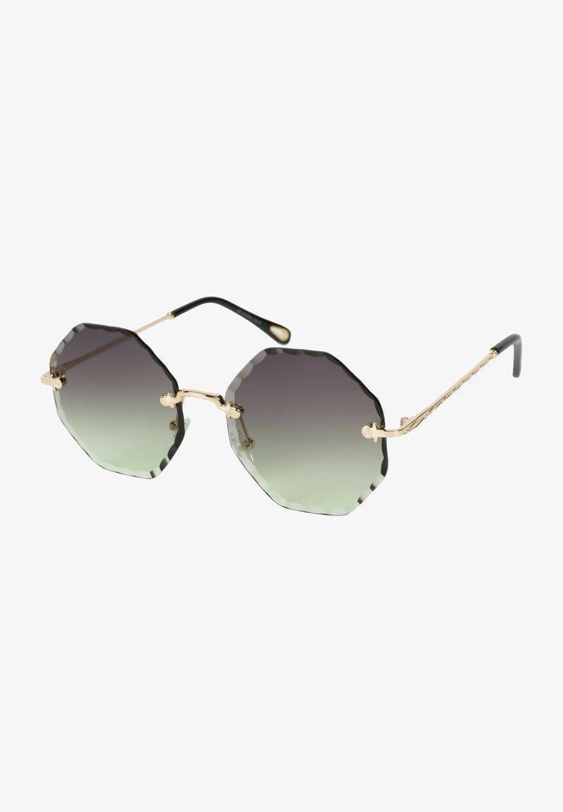 STYLEBREAKER - Sunglasses - gestell gold / glas grau-grün verlauf