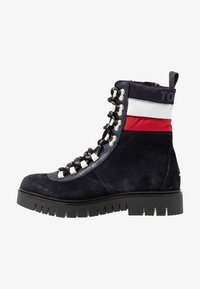 Tommy Jeans - PADDED LACE UP BOOT - Snørestøvletter - blue - 1