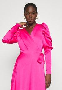 Cras - ALMACRAS WRAP DRESS - Day dress - shocking pink - 3
