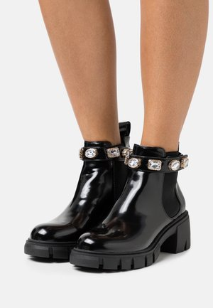 HONEYY - Platform ankle boots - black box