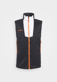 Mammut - RIME LIGHT IN FLEX VEST - Waistcoat - black/white/vibrant orange - 0
