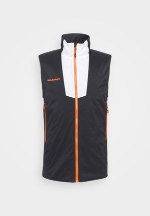 RIME LIGHT IN FLEX VEST - Waistcoat - black/white/vibrant orange